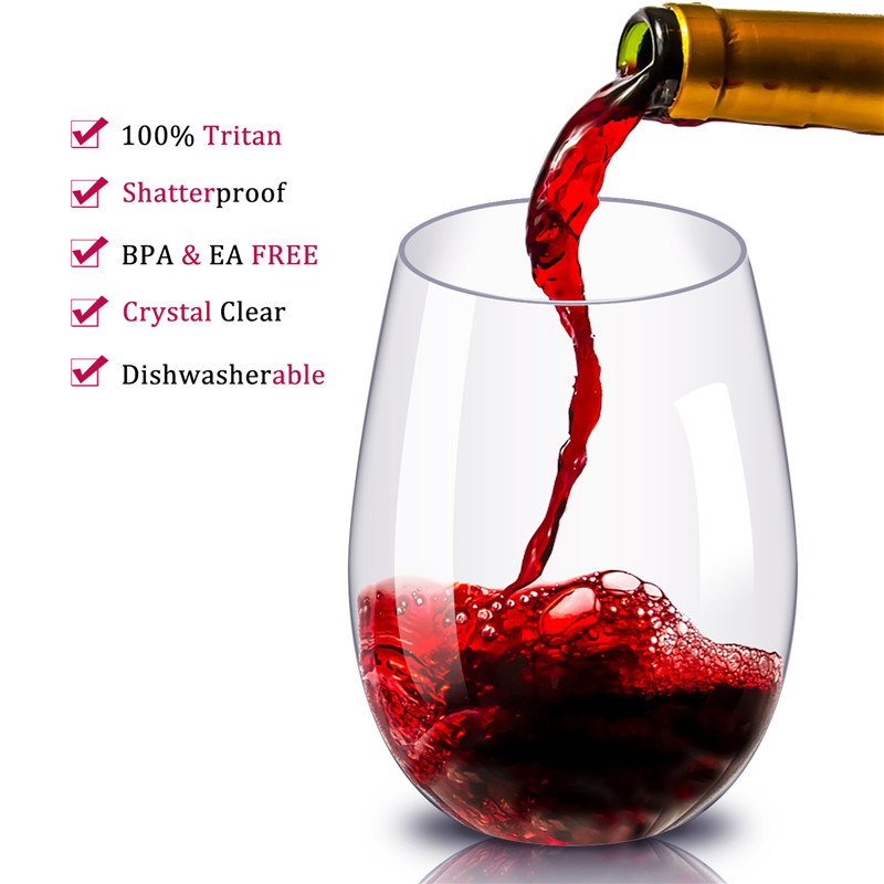 1pcs Stemless Plastic Wine Glass Cup Drinking Champagne Cocktail Whiskey Beer Glass Crystal Wine Glasses Juice Cup Glass Ware