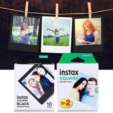 العلامة التجارية الجديدة 10 قطعة/30 قطعة Fujifilm Instax مربع حافة بيضاء سوداء الأفلام ورق طباعة الصور للكاميرا الفورية Instax SQ10 SQ6