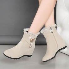 Зимние женские ботинки; Новинка 2020 года; ботинки из матовой