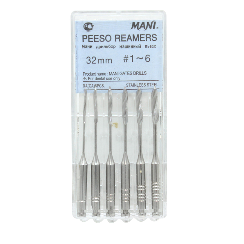 6Pcs/Box 1-6# Dental Endodontic Files Reamers Drill Burs Peeso Reamers Endo Files Peeso Dentist Tools Dental Lab Instrument