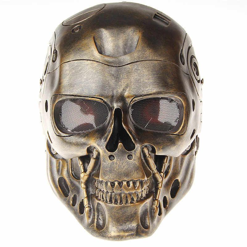 Фильм Терминатор робот косплей маски защитные маски вечеринка Хэллоуин маски косплей высокого качества маски из ПВХ