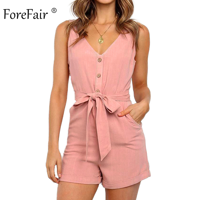 Forefair Summer Waist Tied Shorts Jumpsuit Women Sexy Rompers Off Shoulder Casual Plus Size Tunic Slim Elegant Women Jumpsuit