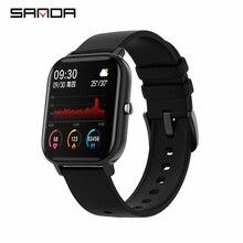 Reloj inteligente SANDA P8 para hombre y mujer, reloj inteligente deportivo de 1,4 pulgadas con control del ritmo cardíaco y táctil