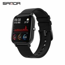 SANDA P8 ساعة ذكية الرجال النساء 1.4 بوصة تعمل باللمس الكامل جهاز تعقب للياقة البدنية رصد معدل ضربات القلب الساعات الرياضية GTS ل شاومي relogio
