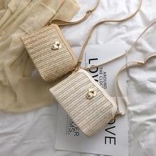 Fashion Straw Mini Bags For Women Small Holiday Handbags Ladies Summer Weave Messenger Bags Beach Travel Purses Shoulder Bag