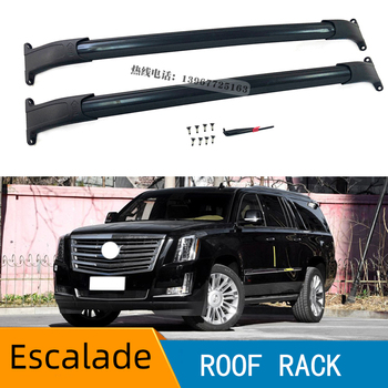 Roof Rack Cross Bars 2015-2018 for gmc Yukon XL Chev.rolet Tahoe Suburban Cad.illac Escalade ESV Black фото