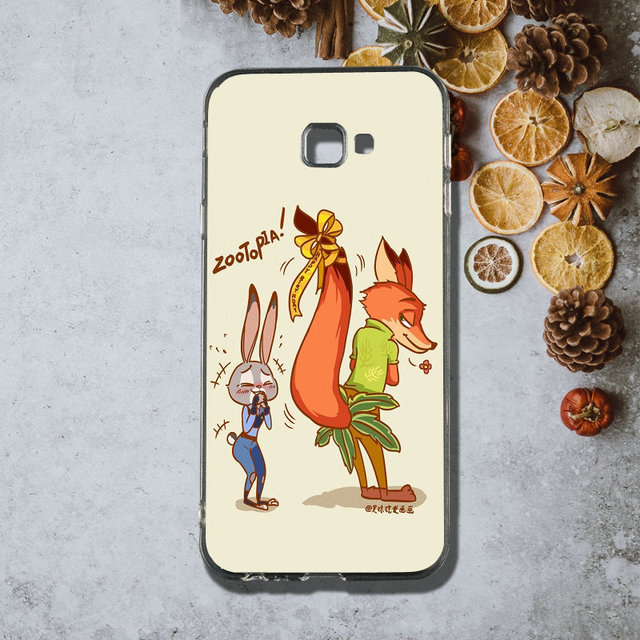 For Samsung Galaxy J1 J2 J3 j4 J5 j6 J7 J8 A3 A5 A7 2018 2016 2017 Bags Silicone Soft Phone Cases Cute Animal Zootopia Judy Nick