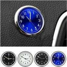 Автомобильные часы, металлические светящиеся автомобильные аксессуары, авто украшения, мини-автомобили, внутренняя наклейка, цифровые часы для Corolla Camry Crown