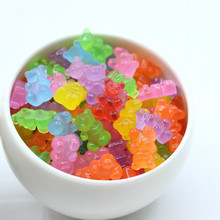 Addition Slime 10Pcs Simulated Bear Candy Polymer Toy for Kids  Foam Clay Mud Charms DIY Kit Accessories Toys Gift E