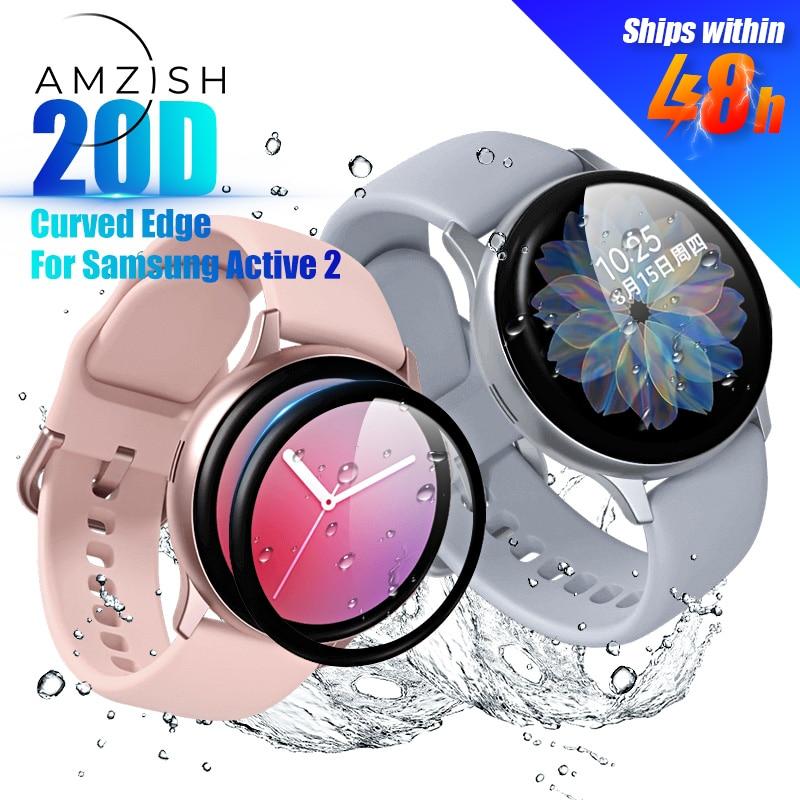 Amzish 20D защитное закаленное стекло для Samsung Active 2 20D изогнутое стекло для Samsung Active 2 40 мм 44 мм устойчивое к царапинам|Смарт-аксессуары| | АлиЭкспресс