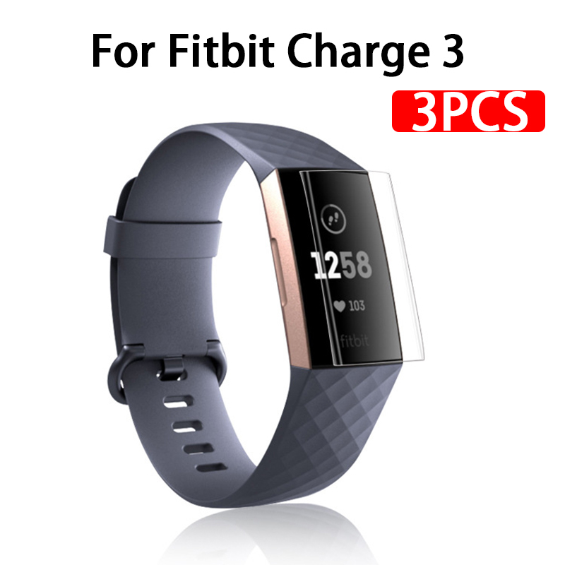 3pcs Full Cover Screen Protector For Fitbit Charge 3 Soft Protective Film On Fit Bit Charge 2 Charge2 Charge3 Not Tempered Glass
