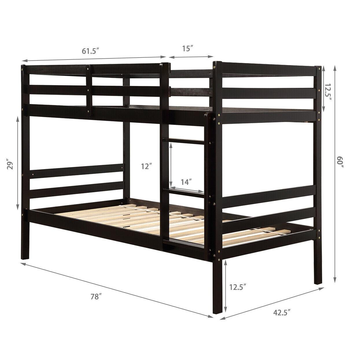 Twin Bunk Bed Children Wooden Bunk Beds Solid Hardwood Hw62351 Aliexpress