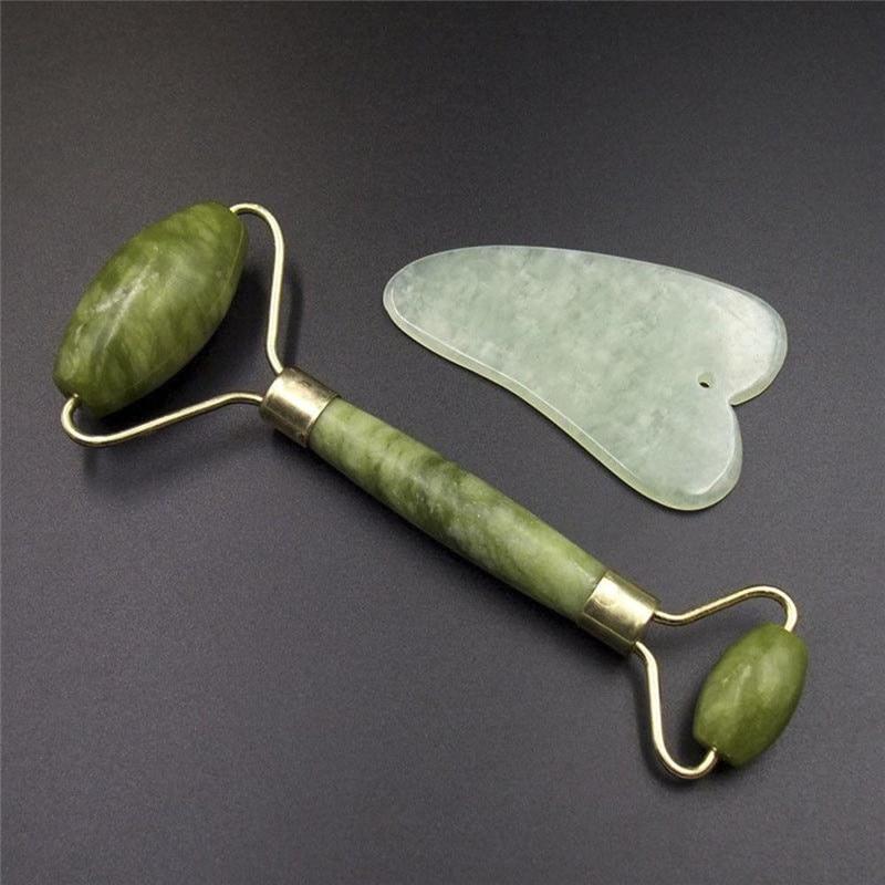 Facial Roller Natural Jade Quartz Face Stone Beauty Massage Tool Lift Massager Dropshipping