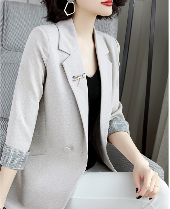 N028 # blazer female spring and autumn 2020 new Korean casual fashion hit color net red small suit jacket women, suit jacket