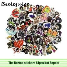 61pcs Tim Burton halloween stickers pasters Cartoon characters funny decals scrapbooking diy phone laptop waterproof decorations рубашка burton menswear london burton menswear london bu014emesuw5