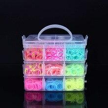 4500 peças arco íris faixas de borracha, conjunto diy, brinquedos, solto, artesanato, pulseira de criança, trança de silicone, elásticos, presentes para crianças meninas meninas