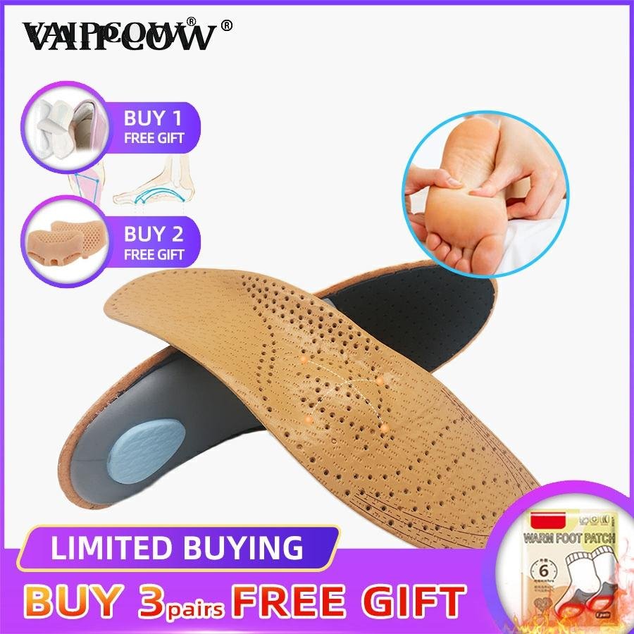 Leather Orthotic Insole For Flat Feet Arch Support Orthopedic Shoes Sole Insoles For Feet Men And Women And Children OX Leg