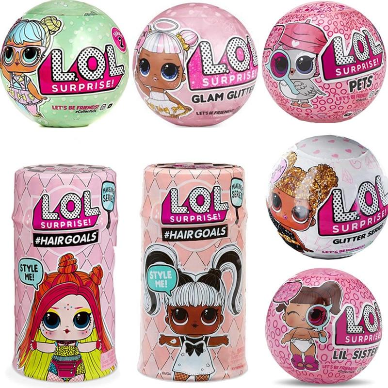 Original LOL SURPIRSE Dolls 5th Generation HAIR GOALS Magic DIY Random Lols Dolls Action Figure Model Girl's Toy Gift