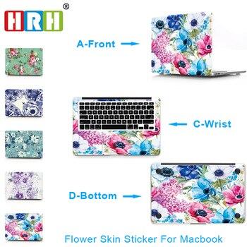 HRH 3 In 1 Flower Vinyl Decal Laptop Sticker for Macbook Air Pro Retina 11 12 13 15 Inch Laptop Skin for Macbook Air 13 Sticker pag unique decorative sticker for apple macbook laptop black