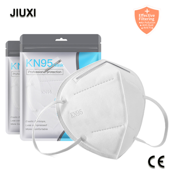 10-100 PCS KN95 Mask Non-woven Multilayer System with HighFiltratioCapacity Filters Fast Delivery KN95 Dustproof Anti-fog FFP2