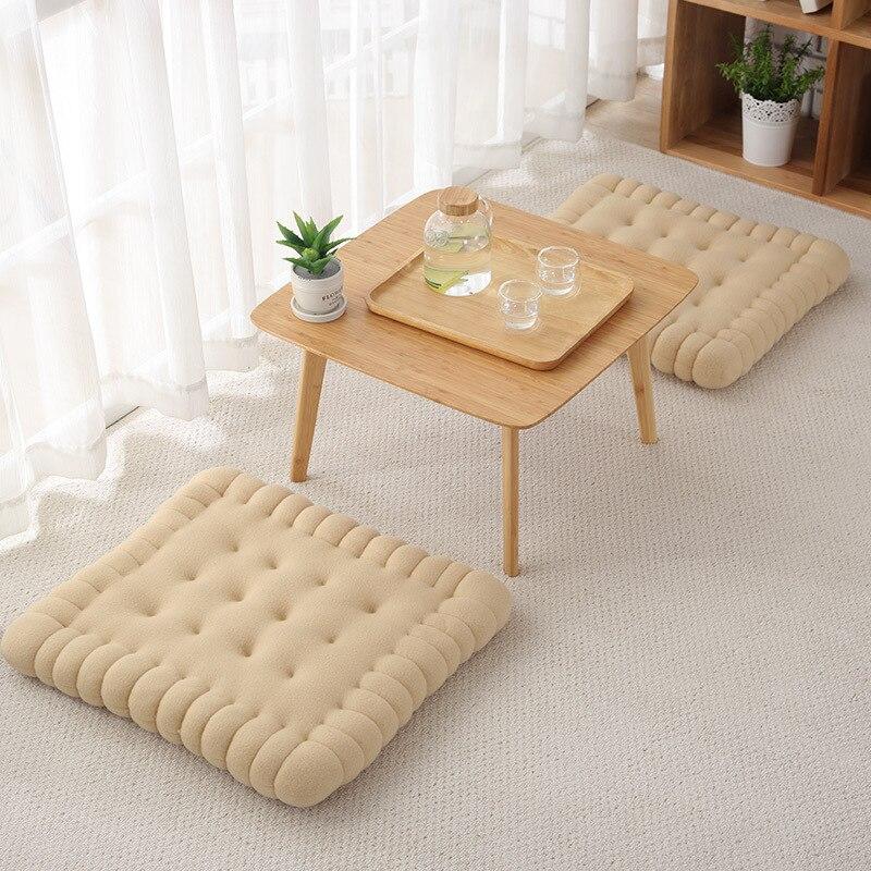 Creative Soft Biscuit Shape Cushion Classical Pillow Chair Car Seat Pad Decorative Cookie Tatami Back Cushion Sofa Home