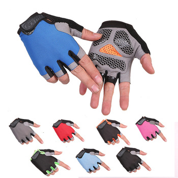 Cycling fitness gloves weightlifting half-finger non-slip tactical gloves gym outdoor sports men and women sunscreen gloves 2020