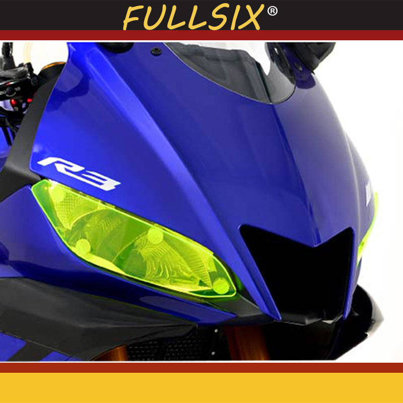 New Motorcycle headlight cover protection accessories suitable for <font><b>YAMAHA</b></font> YZF-R3 YZF-<font><b>R25</b></font> <font><b>2019</b></font> front lamp cover image
