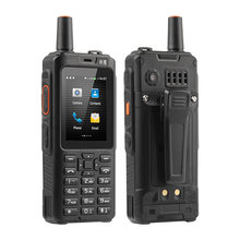 Walkie talkie uniwa f40 zello 4g telefone móvel 4000mah impermeável áspero 2.4 core core tela de toque quad núcleo android smartphone