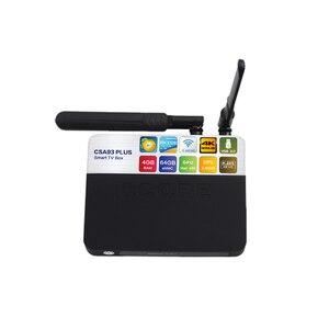Image 2 - CSA93 プラスの Android 8.1 Tv ボックス RK3328 4 ギガバイト/64 ギガバイト RK3328 クアッドコア 5 3G WIFI の BT 4.0 4 4K テレビボックス時刻表示 USB 3.0 セットトップボックス