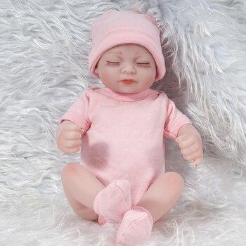 Reborn Baby Doll silicone vinyl Reborn Baby Dolls Toys For Girls Accompany Doll soft body lifelike Bebe Reborn Birthday Present warkings reborn