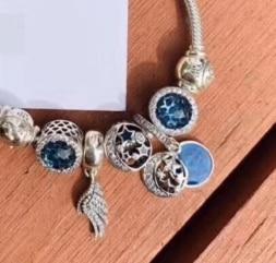 YPD164     925 Silver Zircon Bracelet Girl Birthday Party DIY Bracelet Gift