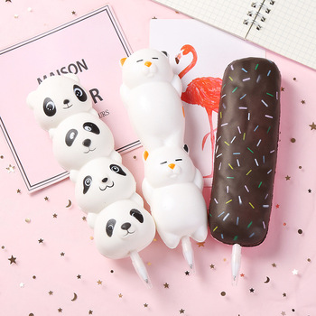 New Squishy Antistress Toys Ice Cream Slow Rising Pen Soft Squeeze Pen Stress Relief Toy Christmas Gifts squish slow rising kawaii ice cream peach toys for kid squishy slow rising soft animal squeeze toy squishy children anti stress