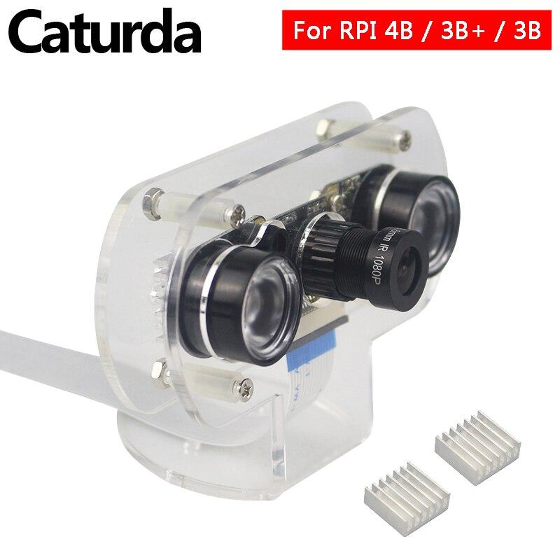 Raspberry Pi 4 Night Vision Camera 60 130 Degree Raspberry Pi 3 Focus Camera+Acrylic Holder For Raspberry Pi 4 3 Model B 3B Plus