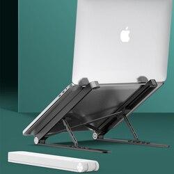 Regulowana aluminiowa podstawka do laptopa składana podstawa pomocnicza stojak na notebooka uchwyt Lapdesk komputerowy wspornik chłodzący Riser