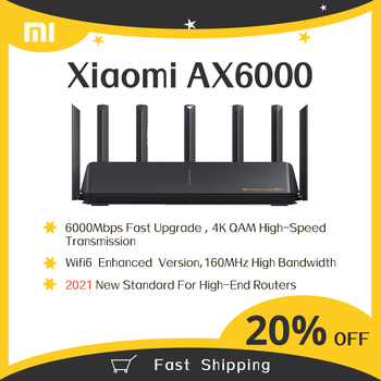 2021 New Xiaomi Router AX6000 WiFi6 AIoT Router 6000Mbs VPN 512MB Qualcomm CPU Mesh Repeater External Signal Network Amplifier 1