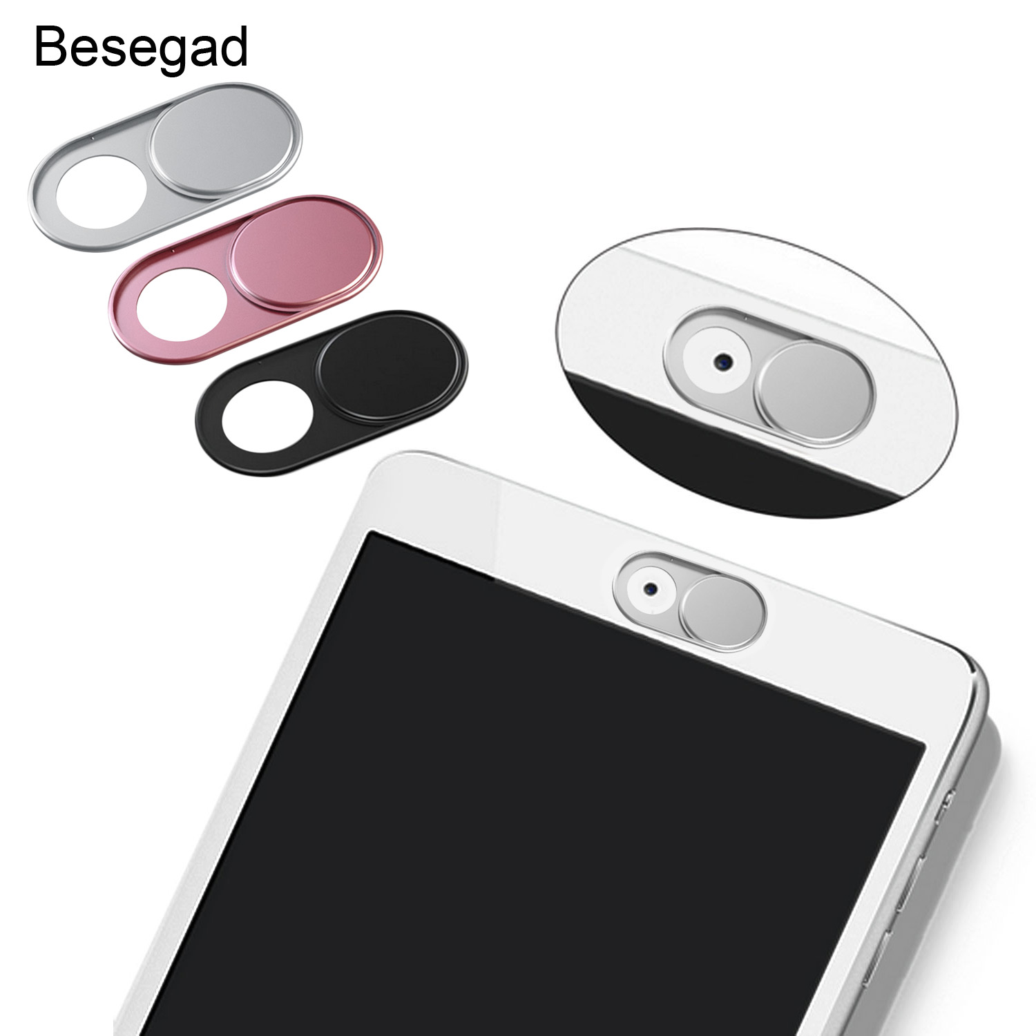 3 PCS Ultra-Thin Webcam Web Camera Cover Shutter w/ Strong Adhensive for Macbook Pro Mac Laptops Computer Smartphone