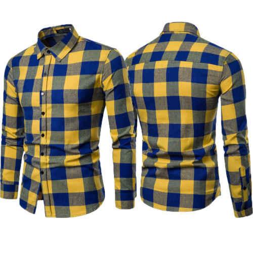 Lente Nieuwe Heren Plaid Flanel Lumberjack Tartan Controleer Shirt Geborsteld Katoenen Casual Shirts Mode Streetwear