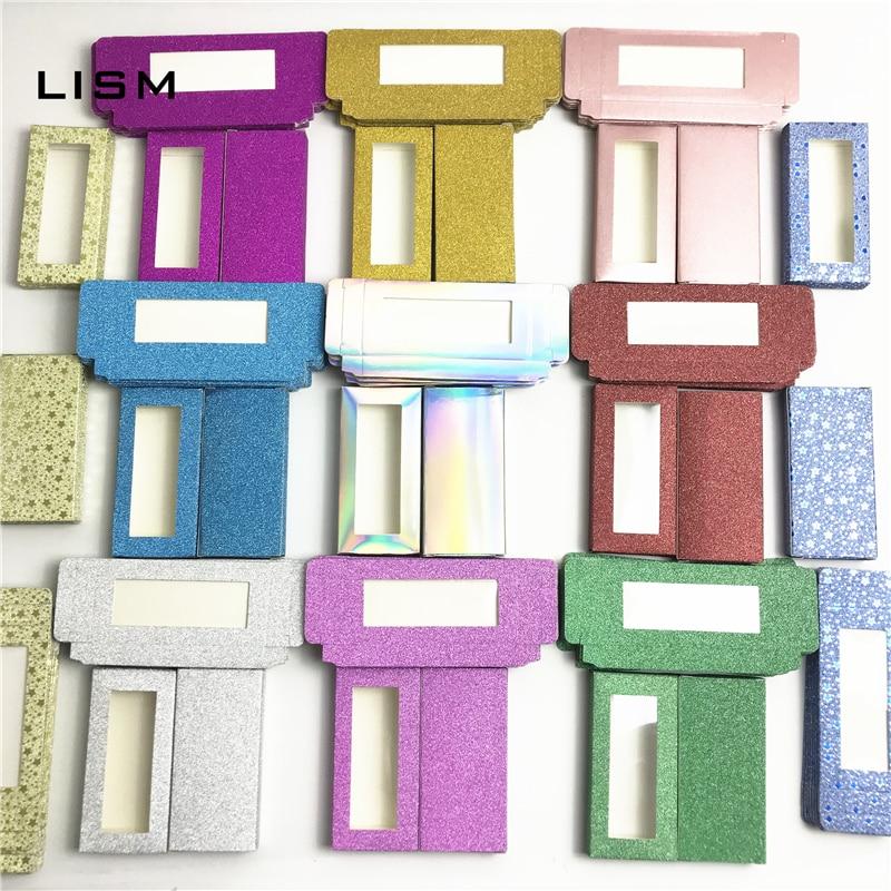 Wholesale eyelash packaging box blank eyelashes plastic package all transparent lid tray Eyelashes for DIY lash boxes packaging(China)