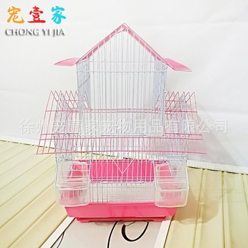 Budgerigar bird cage iron thrush embroidery myrtle stainless steel bird cage large bird cage parrot cage