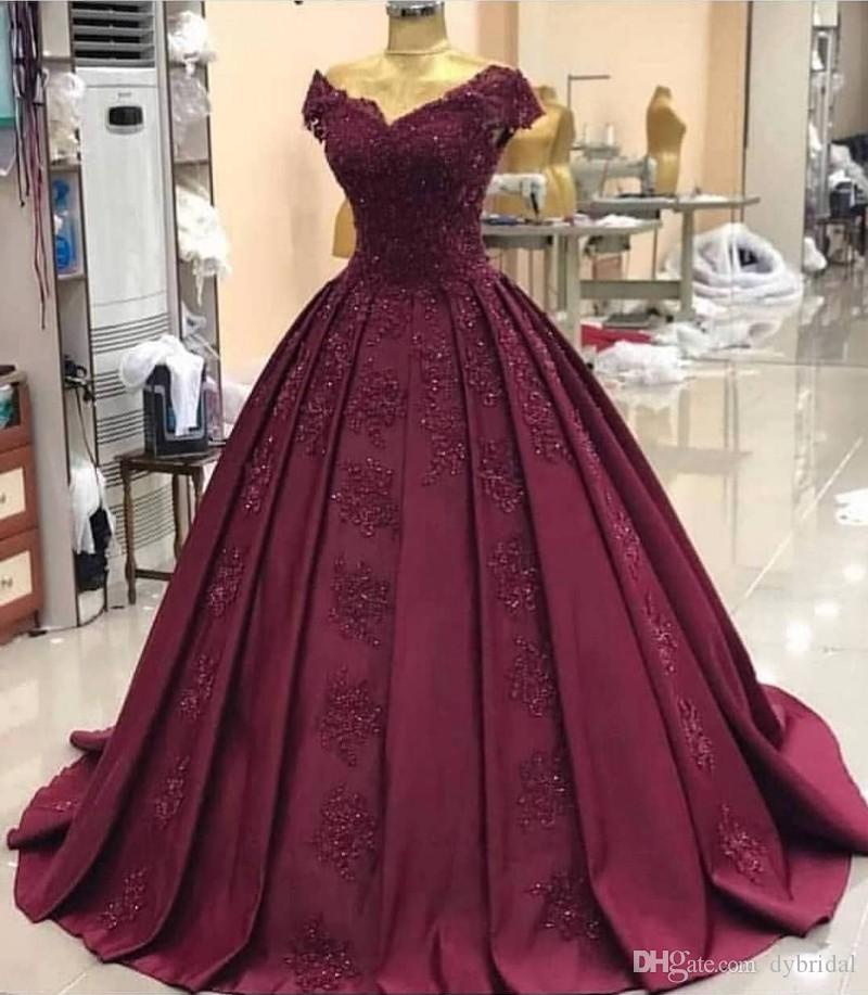 Sexy African Sequins Lace Burgundy Prom Dresses 2020 Long Dubai Arabic Evening Formal Dress Ball Gown Dresses