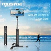 Muyue Mini حامل ثلاثي متنقل Selfie عصا آيفون سامسونج هواوي شاومي سماعة لاسلكية تعمل بالبلوتوث Selfie عصا Monopod الذاتي عصا