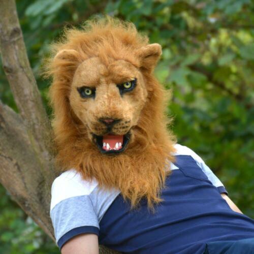 Peut se déplacer bouche Lion mascotte Costume Fursuit Cosplay déguisement Animal Halloween réaliste publicité défilé personnage adultes