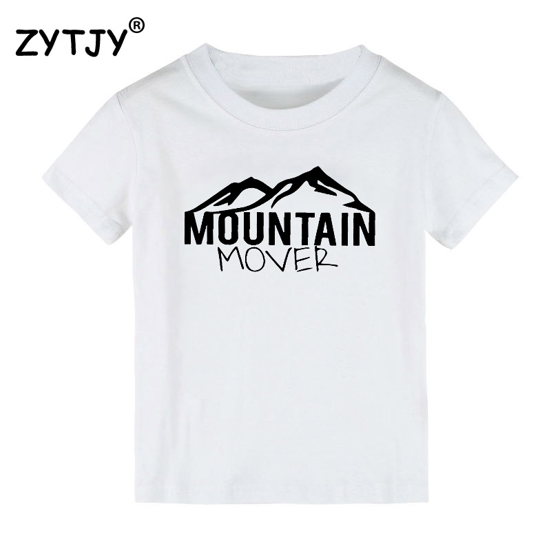 mountain mover Print Kids tshirt Boy Girl t shirt For Children Toddler Clothes Funny Tumblr Top Tees CZ-107 image