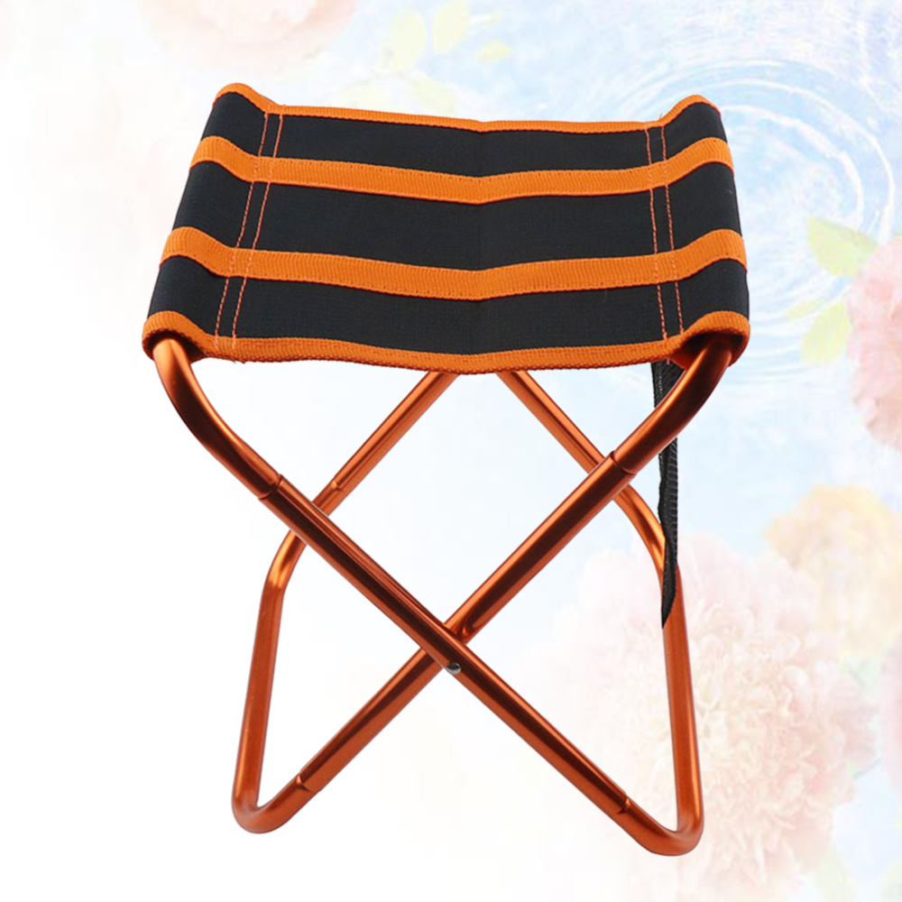1PC Foldable Chair Space Aluminum Outdoor Camping Chair Portable Fishing Stool Chair
