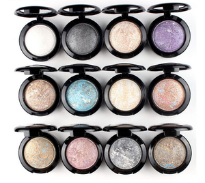 Fashion Baked Eyeshadow Warm Color Pigment Eye shadow Palette Shimmer Metallic 12 Colors(China)