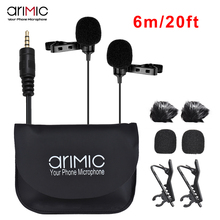 Ulanzi AriMic 6m Dual-Head Lavalier Lapel Clip-on Microphone