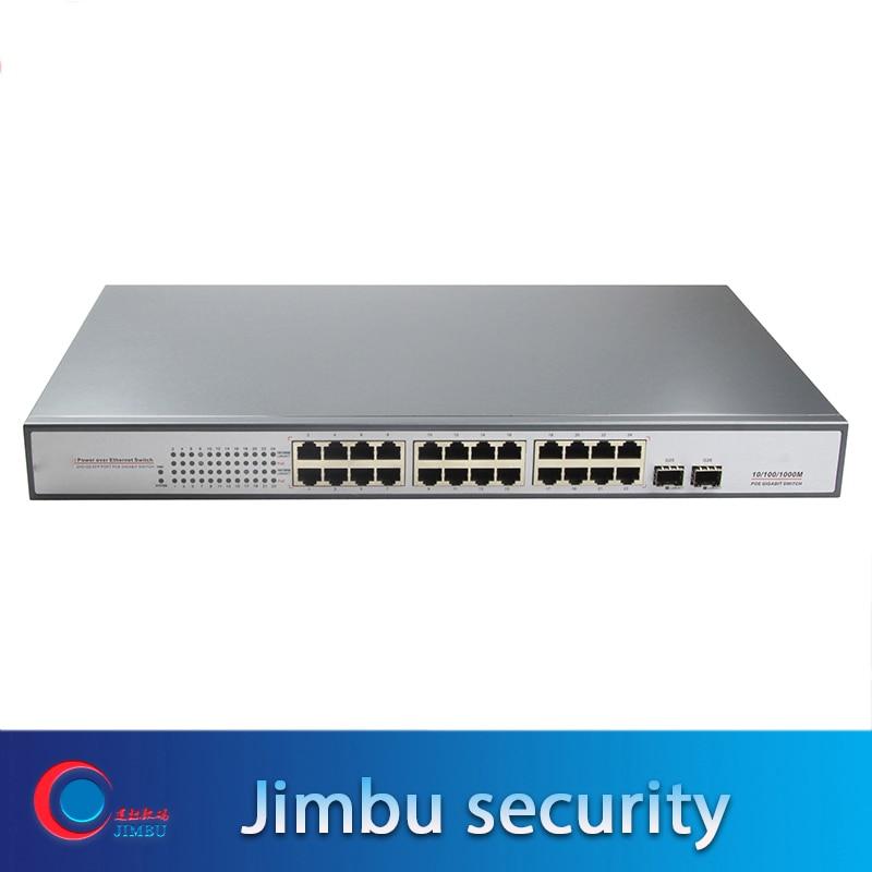 26-Port Gigabit 10/100/1000 Mbps PoE Switch With 24 Gigabit PoE Ports And 2 Gigabit Fiber Ports For Cctv Camera
