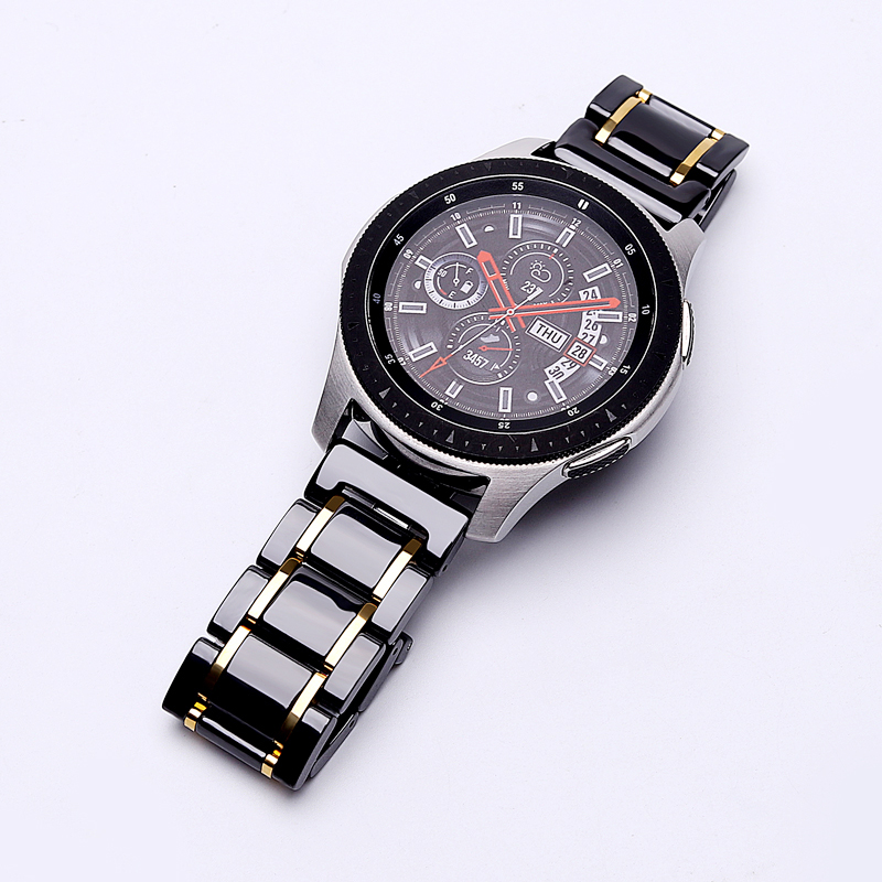 20mm 22mm Ceramic Watch Band For Samsung Galaxy 42mm 46mm Active 2 Bracelet Gear S3 Frontier Strap For Big Hands And Wrists