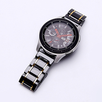 20mm 22mm ceramic watch band For Samsung Galaxy 42/46 active bracelet Gear s2 s3 Replacement strap Watchband Butterfly buckle