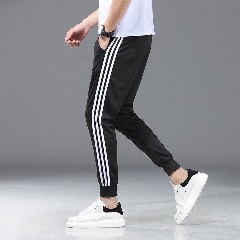 Men's Casual Athletic Pants Three Bars Trousers Zi Xia White Bar Three Bars Three Lever Sweatpants Three Carry Stripes Bar-shape